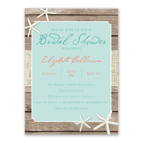 Beach Retreat - Bridal Shower Invitation
