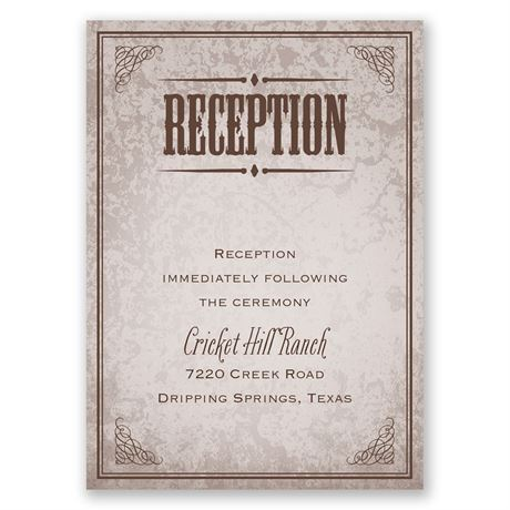 Western Poster  Reception Card