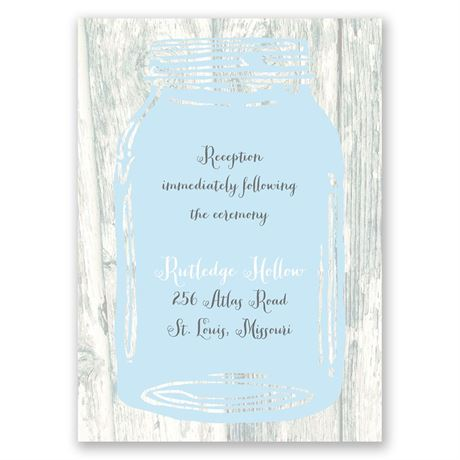 Brimming with Love  Reception Card