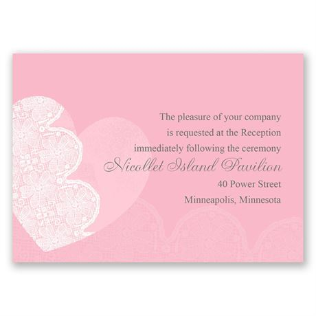 Lace Heart  Reception Card