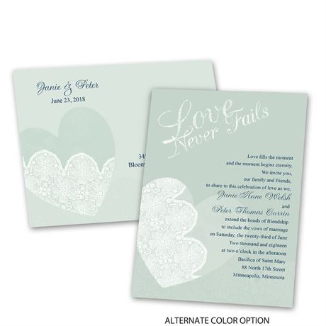 Lace Heart - Invitation with Free Response Postcard