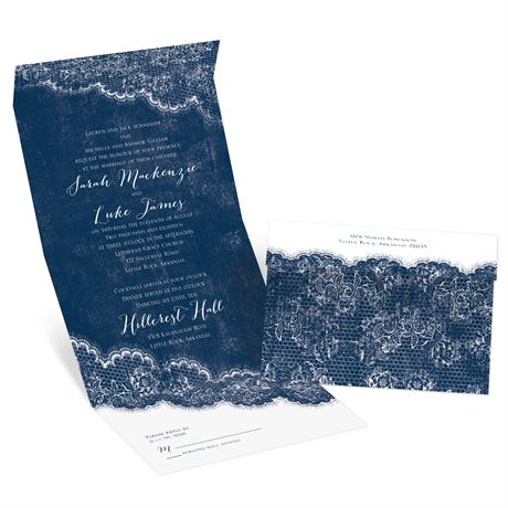 Lace Trim - Seal and Send Invitation