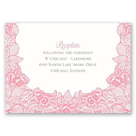 Lace Embrace  Reception Card