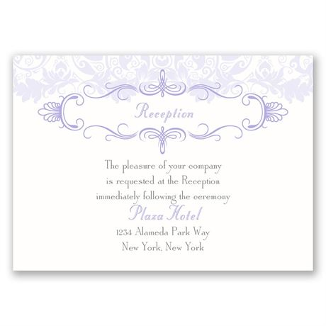 Crest & Flourish  Reception Card
