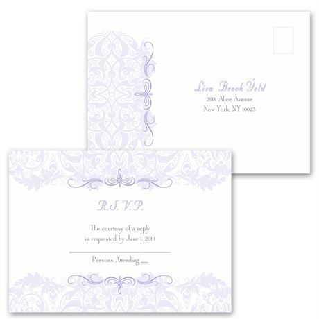 Crest & Flourish - Invitation with Free Response Postcard