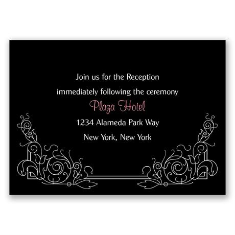 Modern Scrollwork  Reception Card