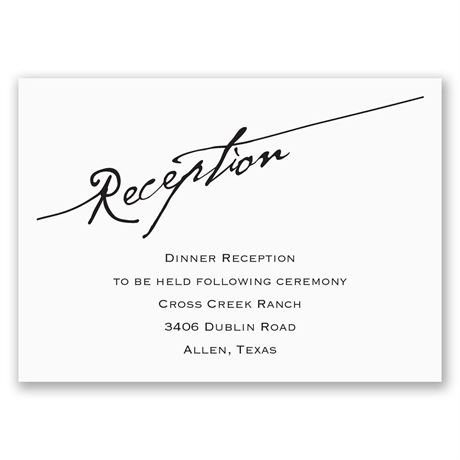 Elegant Script - Reception Card