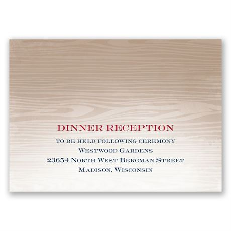 All Natural  Reception Card