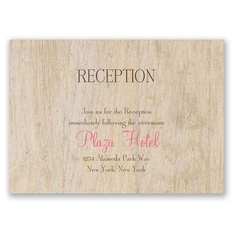 Woodgrain Beauty Reception Card