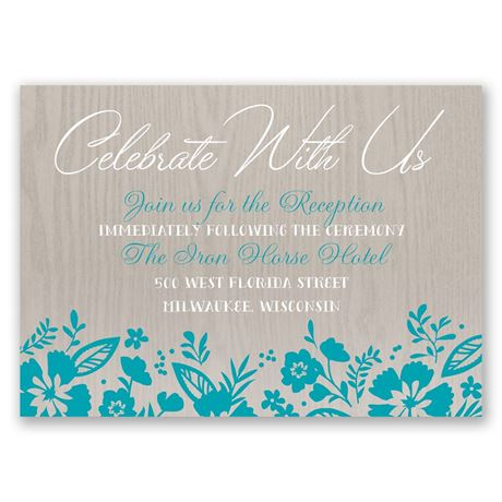 Modern Garden  Reception Card