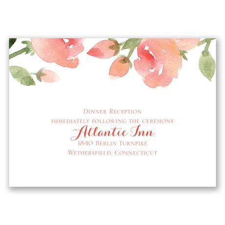 Within Reach - Posie Pink - Reception Card