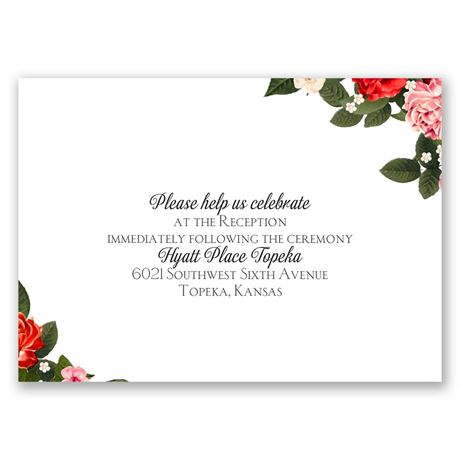 Boho Floral  Reception Card