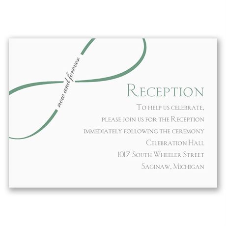 Now and Forever  Reception Card