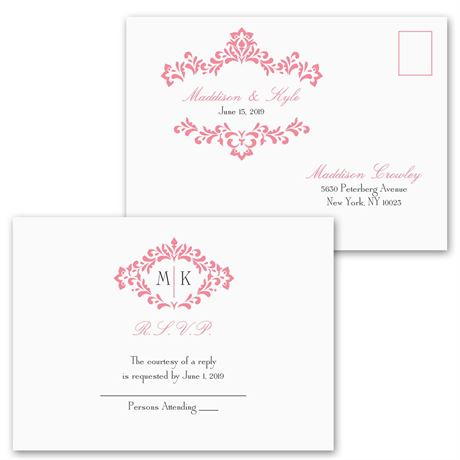 Pretty Flourish - Invitation with Free Response Postcard