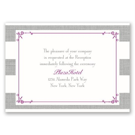 Bold Stripes  Reception Card