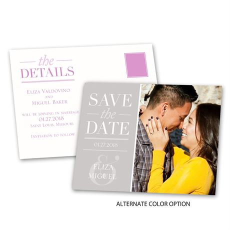 Modern Style - Save the Date Postcard