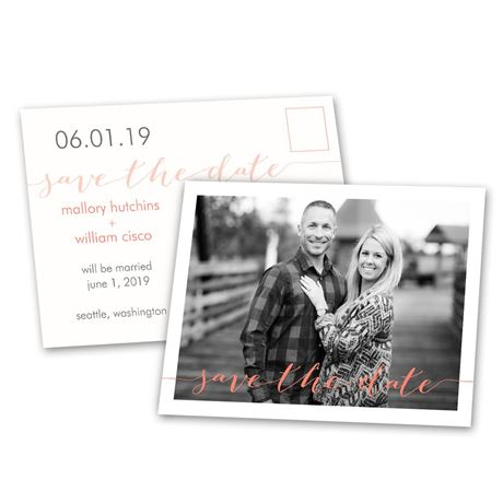 Photo Feature  Save the Date Postcard