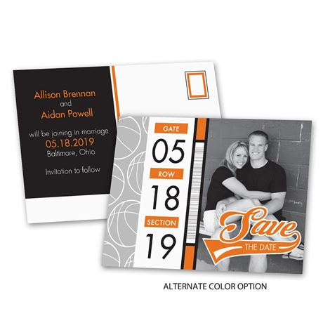 Basketball Fans - Save the Date Postcard