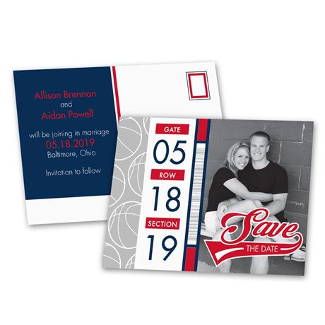 Basketball Fans  Save the Date Postcard