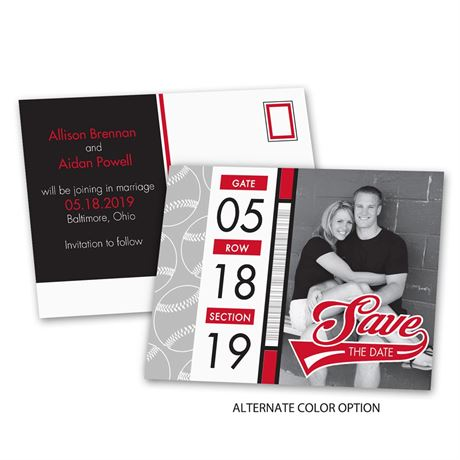 Baseball Fans - Save the Date Postcard