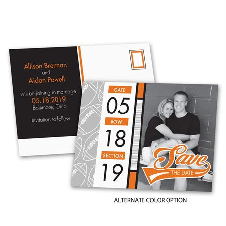 Football Fans - Save the Date Postcard