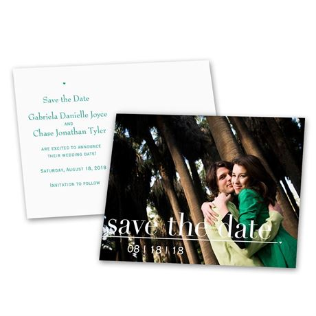 Captured Moment - Save the Date Postcard