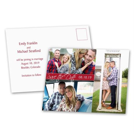 Modern Arrangement  Save the Date Postcard