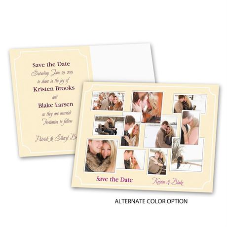 Photo Collage - Save the Date Postcard