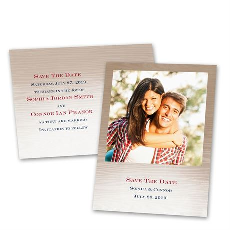 All Natural  Save the Date Postcard