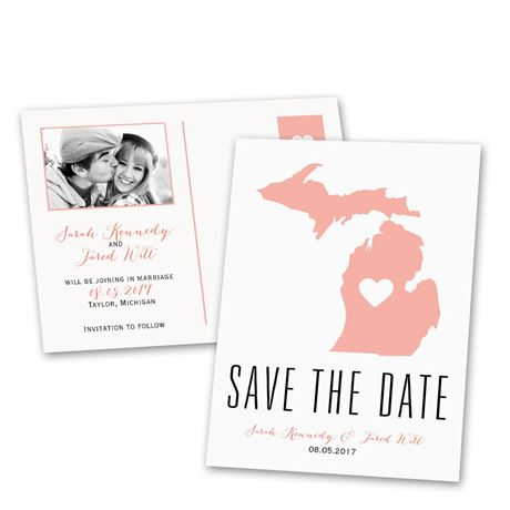 State of Love  Save the Date Postcard