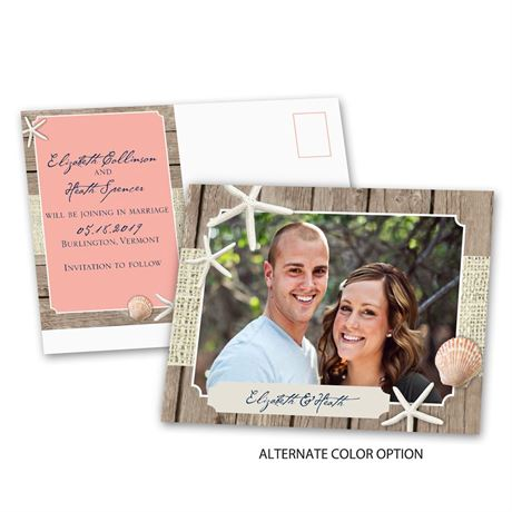 Beach Retreat - Save the Date Postcard