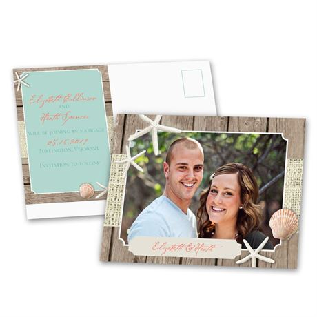 Beach Retreat  Save the Date Postcard