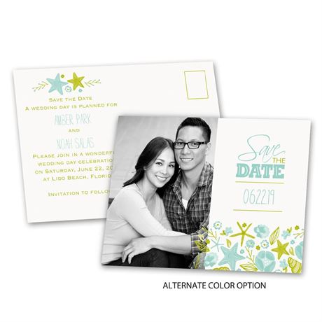 Beach Finds - Save the Date Postcard