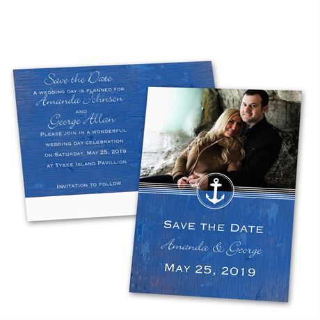 Anchored by Love  Save the Date Postcard