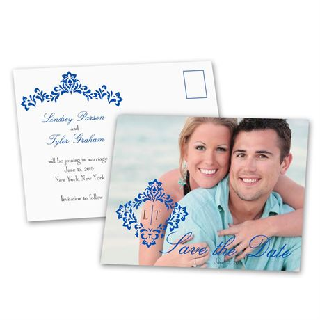 Pretty Flourish - Save the Date Postcard