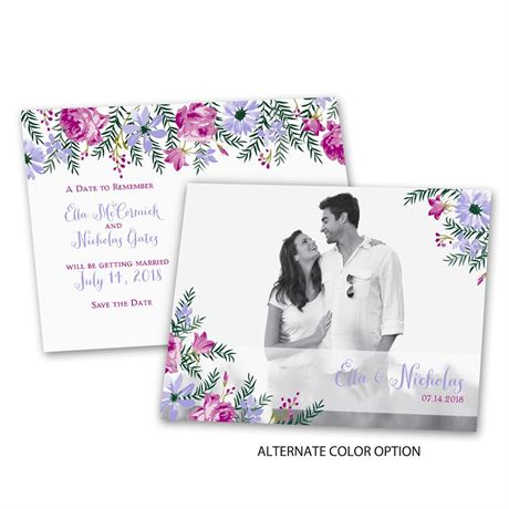 Watercolor Floral - Save the Date Postcard
