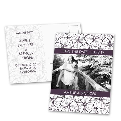 Floral Fix - Save the Date Postcard