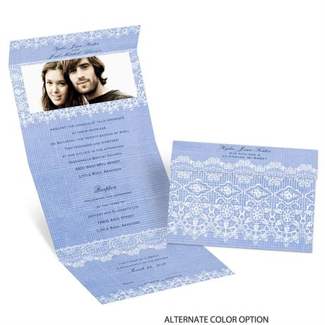 Rustic Lace - Seal and Send Invitation