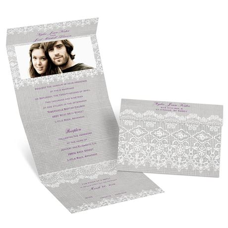 Rustic Lace Seal And Send Invitation Ann S Bridal Bargains