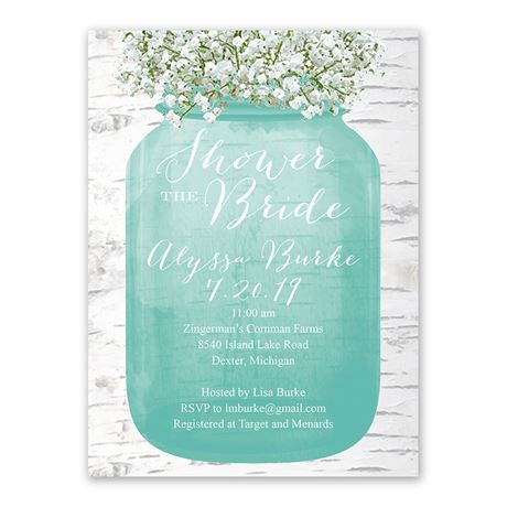 "Baby""s Breath - Bridal Shower Invitation"