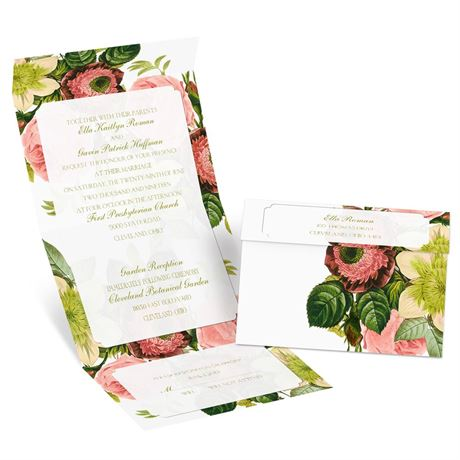 Botanical Beauty - Seal and Send Invitation