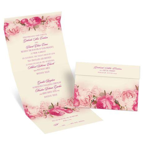 Blushing Blooms Seal And Send Invitation Ann 39 S Bridal Bargains
