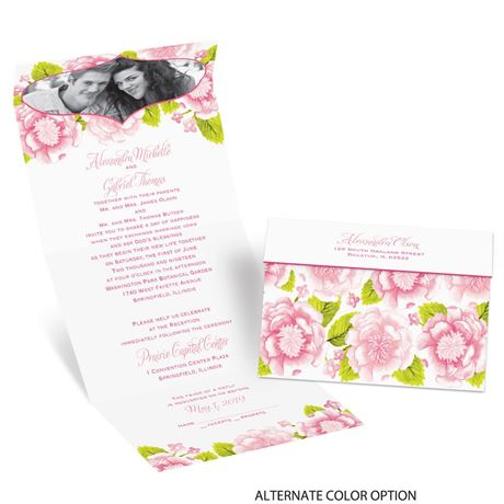 Sweet Florals Seal And Send Invitation Ann S Bridal Bargains