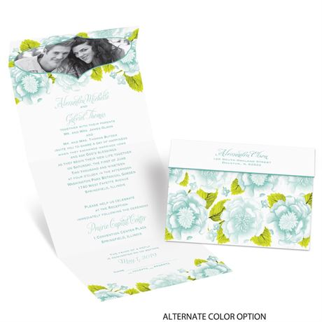 Sweet Florals - Seal and Send Invitation