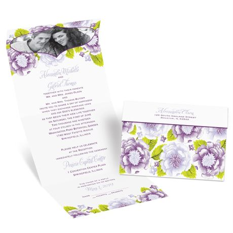 Sweet Florals  Seal and Send Invitation