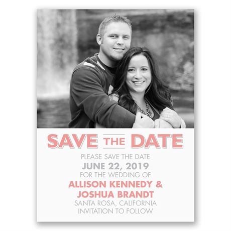 Clearly You  Save the Date Card