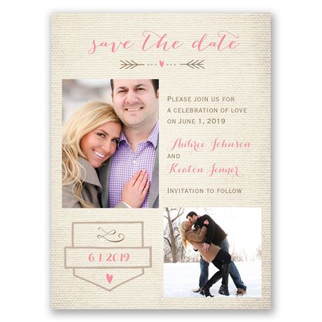 Sweet Linen  Save the Date Card