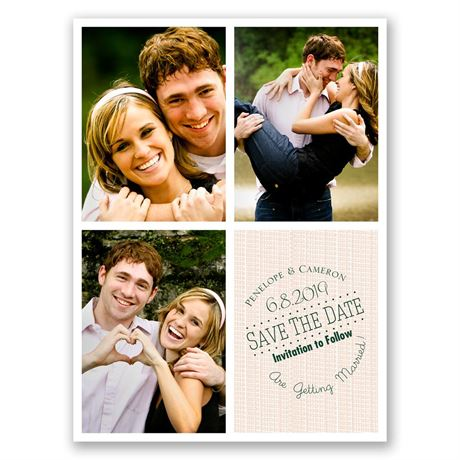 Window Frame  Save the Date Card