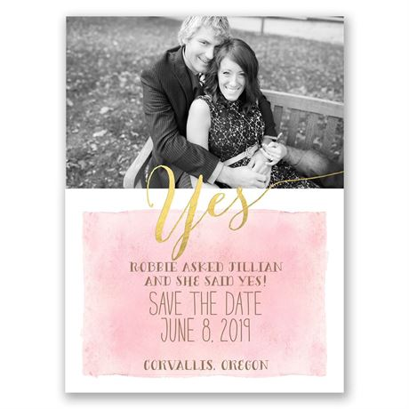 Like Gold  Save the Date Card