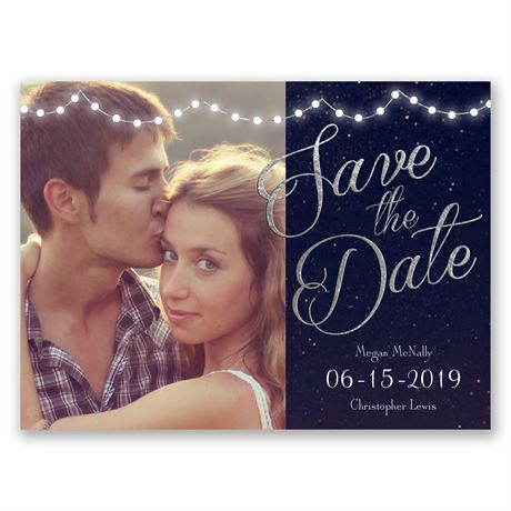 Lights Aglow  Save the Date Card